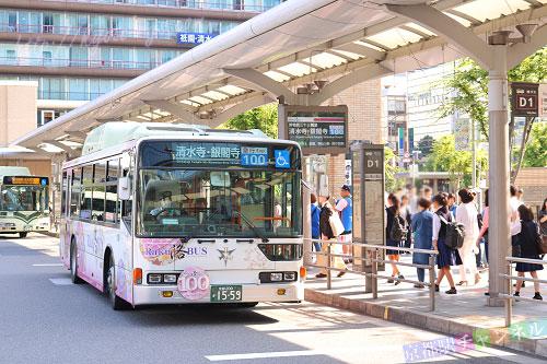 京都駅のバスのりば