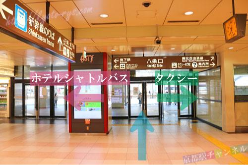 京都駅の新幹線八条口改札