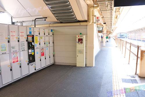 京都駅の奈良線横のコインロッカー