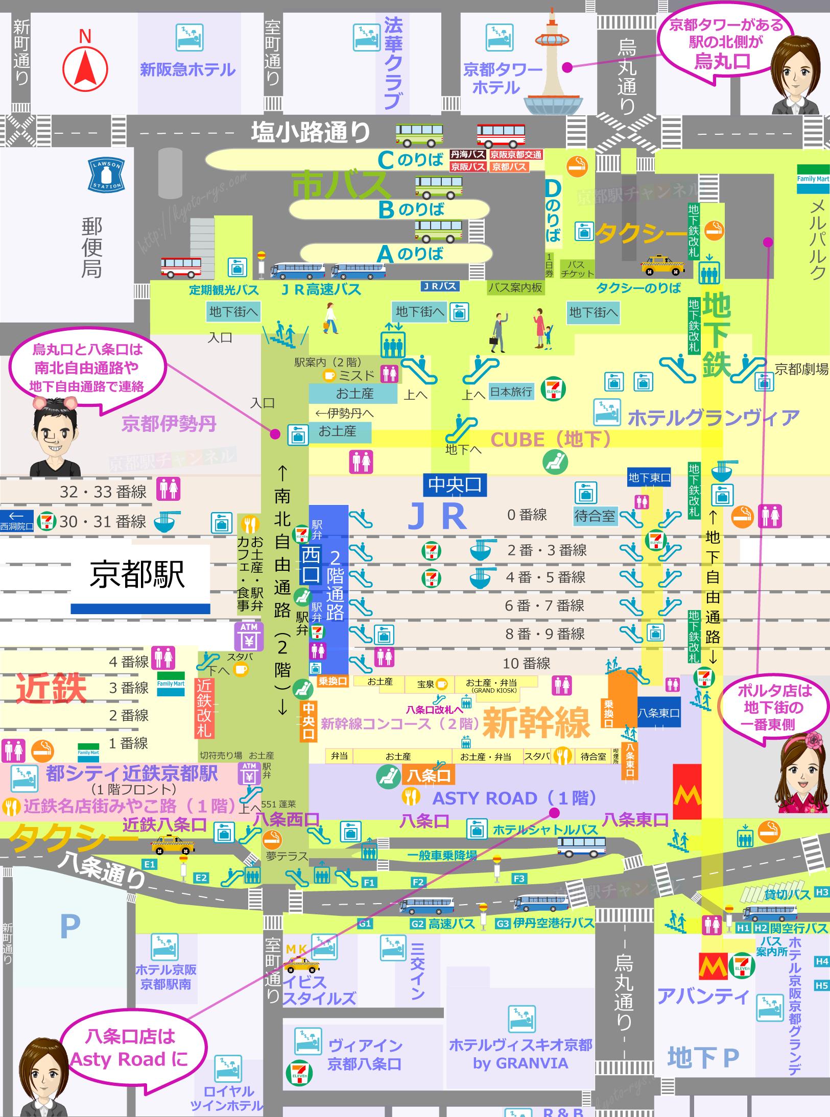 イノダコーヒの店舗マップ