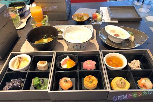 リーガグラン京都のお重朝食
