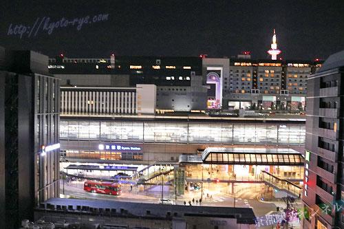 ロイヤルツインホテル京都八条口から見た京都駅