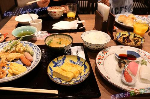 ヴィアイン京都駅八条口の朝食ブッフェ