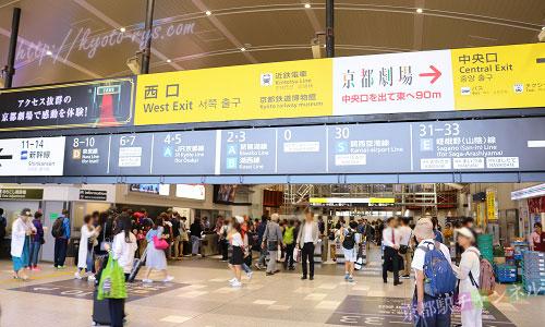 京都駅の西口改札