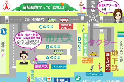 京都駅の構内図